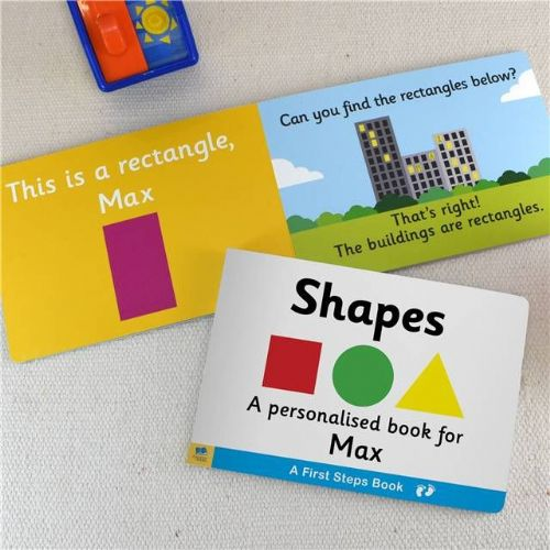 Personalised Learn Shapes Book for Toddlers